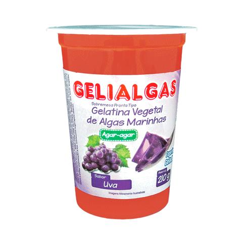 Gelatina Sabor Uva de 210g